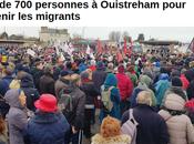 #Ouistreham soutien massif migrants