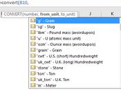 Excel: Convertir aisément unités mesure