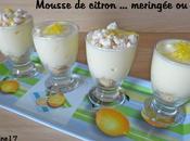 Mousse citron meringuée