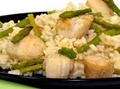 Risotto Asperges Coquilles St-Jacques.