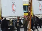 Syrie nouveau convoi humanitaire entré aujourd'hui dans Douma l'est Damas