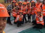 étudiantes l'assaut chantiers
