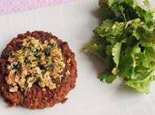 Galettes lentilles-boulgour-sarrasin-épinards croûte d'herbes (Vegan)