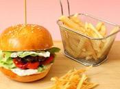 Burger veau poivrons