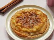 Tarte fine Rhubarbe avec crème pâtissière Vegan
