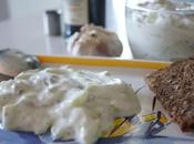 Concombre crème tzatziki grec