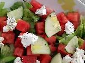 Salade pastèque chèvre frais