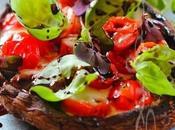 ~Portobello beurre d'ail farci tomates, mozzarella balsamique~