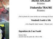 L'Art chapelle Noyers cher Exposition ANCELIN Michel TRAORE Diakaridia partir Août 2018