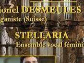 Concert Lionel Desmeules organiste l'ensemble vocal féminin Stellaria Arbois dimanche août