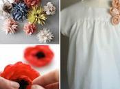 jolies idées pour fabriquer fleurs tissu