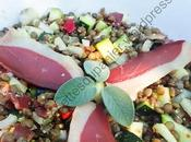 Salade courgettes, lentilles magret canard Zucchini, Lentil Duck Breast Salad