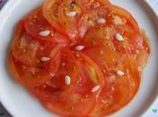 Salade tomates bulbilles d'ail graines Persil (Vegan)