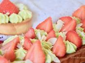 Tarte fraises ganache pistache pour combo parfait
