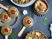 Tartelettes pommes pops confiture fraise {sans gluten}
