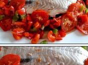 Filet Lieu noir tagliatelle courgettes poivron