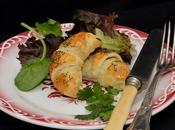 Croissants farcis fromages herbe.