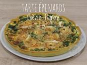 Tarte Epinards Chèvre Pignons
