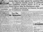 C'était dans journal novembre 1918