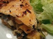 Tourte d'automne butternut, champignon, poireau noisette