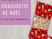 Tuto Coudre chaussette Noël personnalisée heure chrono