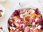 Salade d'hiver rouge orange