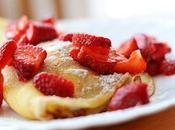 Recette crêpes blintzes fraises fromage blanc, saveur vanille (cuisine juive)