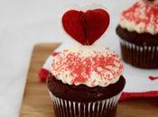 cupcakes chocolat pour Saint Valentin