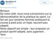Retour l'affaire hijab course Décathlon
