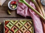 Tarte graphique rhubarbe
