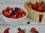 Salade fruits rouges basilic