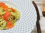 Spaghettis l'avocat saumon fumé