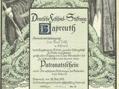 Patronatschein Bayreuth /Certificat patronage pour
