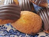 Madeleines vanille coque chocolat noir