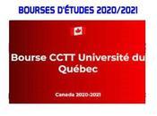 Bourses D'études CCTT Université Québec Canada 2020-2021