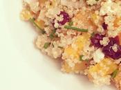 Salade quinoa (potiron, feta cranberries)