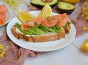 Avocado toast saumon fumé