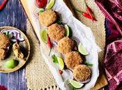 Cutlet poisson Croquettes indiennes pommes terre épices
