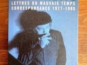 Manchette Lettres mauvais temps, correspondance 1977-1955
