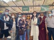 Moment bienveillance d'amitié avec président communauté tibétaine France