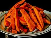 Frites patates douces (cuisson four).