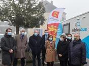 Région Normandie Visite premier médicobus normand