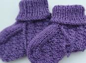Explications pour tricoter chaussons bébé (naissance mois)