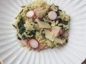 Risotto fanes radis roses