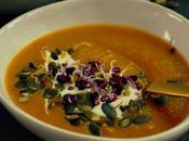Soupe butternut poireaux graines germées