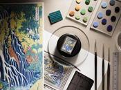 JAEGER-LECOULTRE présente Reverso Tribute Enamel Hokusa CASCADE KIRIFURI